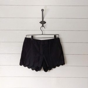 J Crew Cotton Linen Blend Scalloped Hem Shorts 4